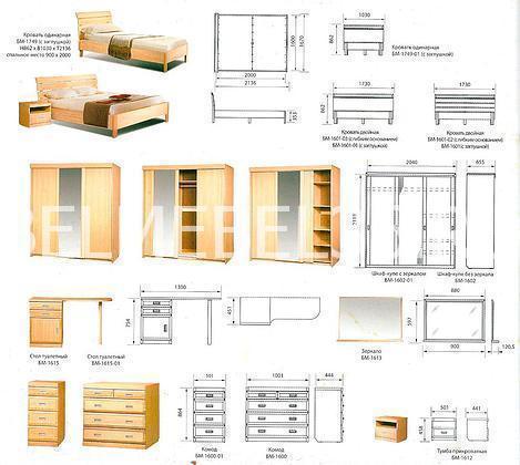 Набор для спальня «Валенсия» 01 | Белорусская мебель в Воронеже
