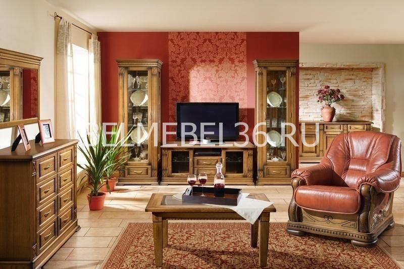 Гостиная Верди (дуб) ВердиТ1П-398.Н1   Белорусская мебель в Воронеже