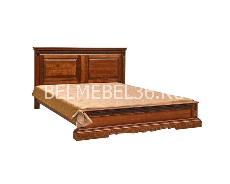 Кровать с низким изножьем Милана 16/1 П-294.05/1м | Белорусская мебель в Воронеже