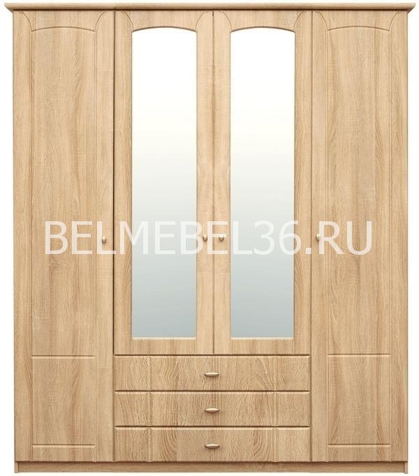 Шкаф 4-х дверный Ассоль П-372.02 | Белорусская мебель в Воронеже