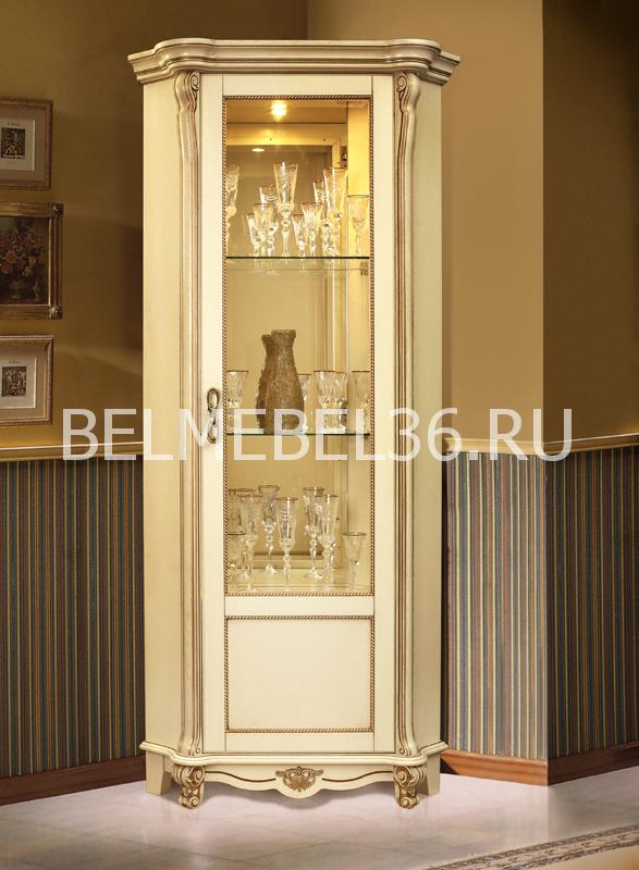 Шкаф с витриной Алези 10 (угловой) П-350.13 | Белорусская мебель в Воронеже
