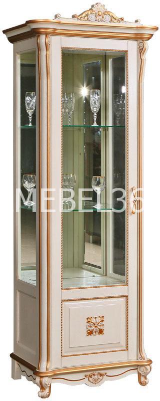 Шкаф с витриной Алези 8 Люкс П-350.08л | Белорусская мебель в Воронеже