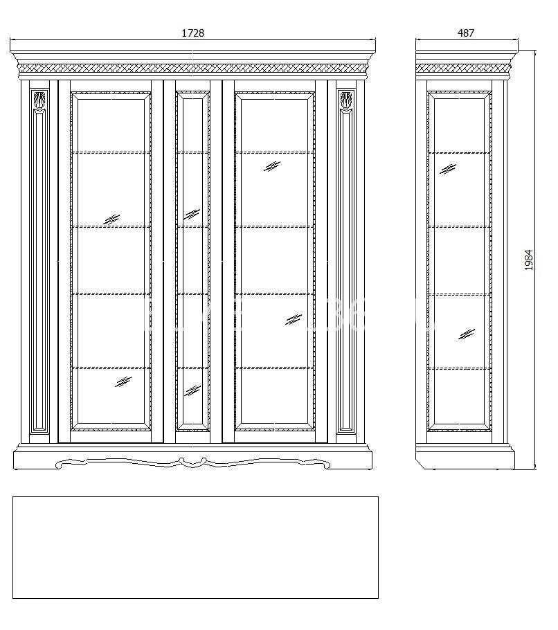 Шкаф с витриной Милана 11 П-265.11   Белорусская мебель в Воронеже