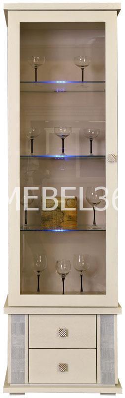 Шкаф с витриной Тунис П-343.01Ш | Белорусская мебель в Воронеже