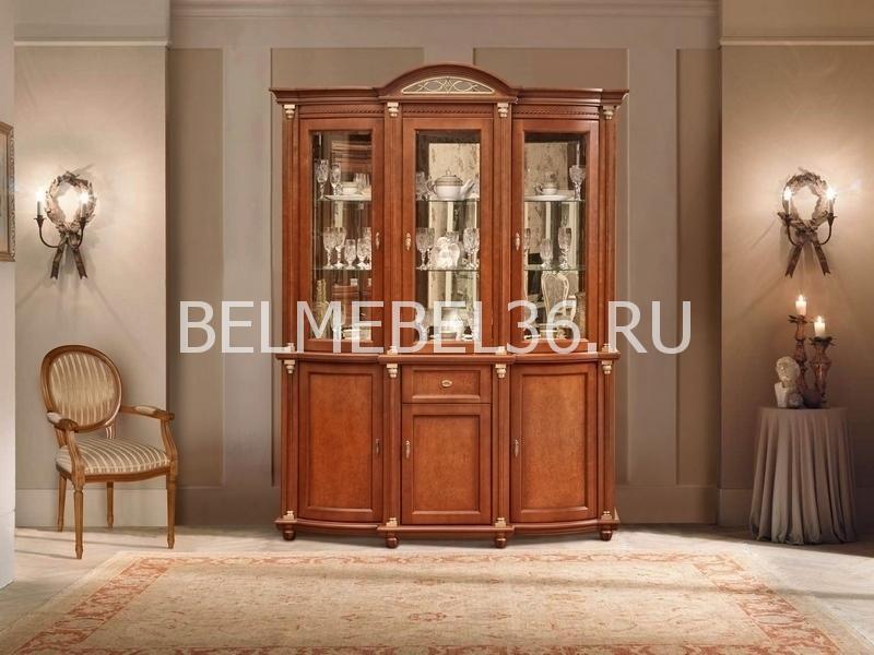 Шкаф с витриной Валенсия 3з П-244.11 (зеркало) | Белорусская мебель в Воронеже