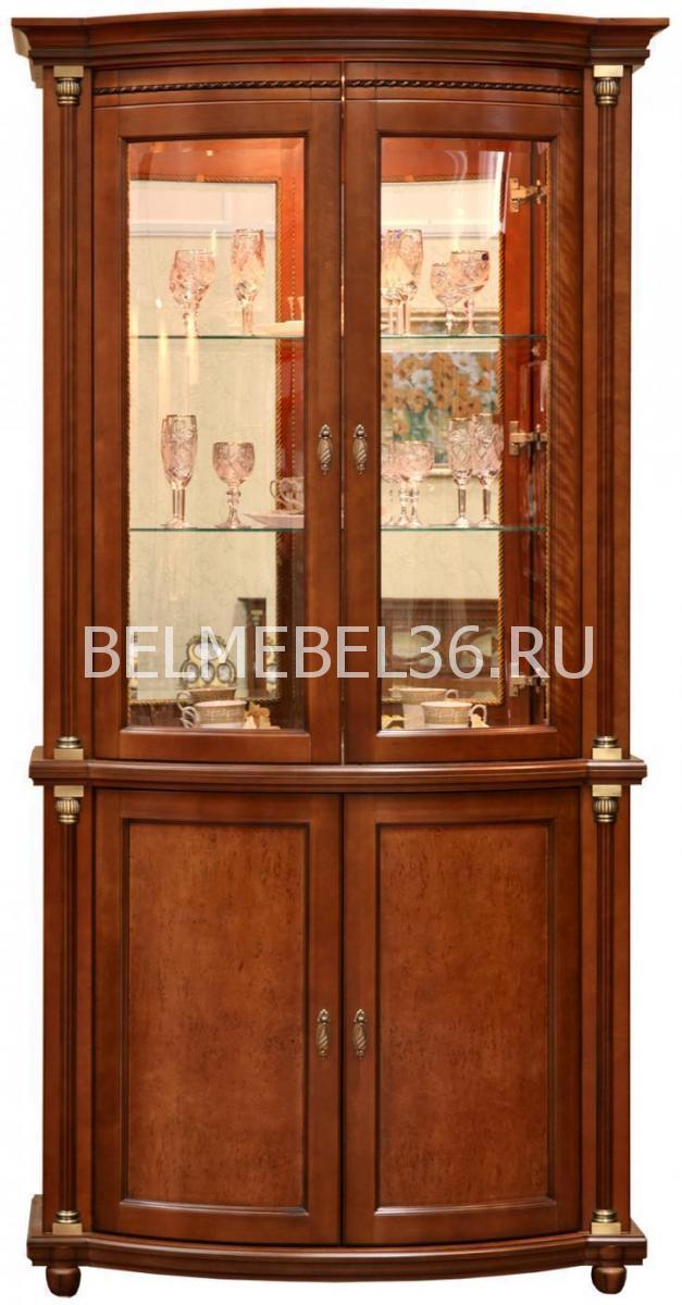 Шкаф с витриной Валенсия 2з П-244.15 (зеркало)   Белорусская мебель в Воронеже