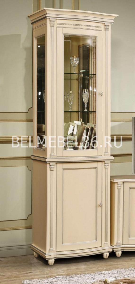 Шкаф с витриной Валенсия 1.1з П-244.14.1 (зеркало)   Белорусская мебель в Воронеже
