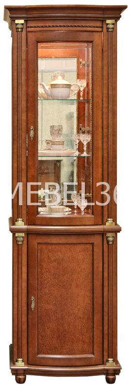 Шкаф с витриной Валенсия 1з П-244.14 (зеркало)   Белорусская мебель в Воронеже