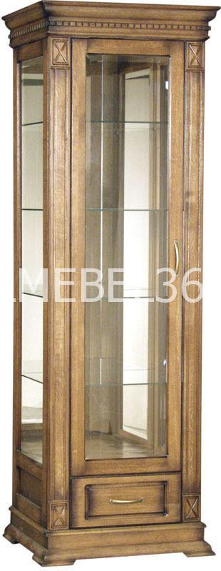 Шкаф с витриной Верди А1з П- 1079.11з | Белорусская мебель в Воронеже