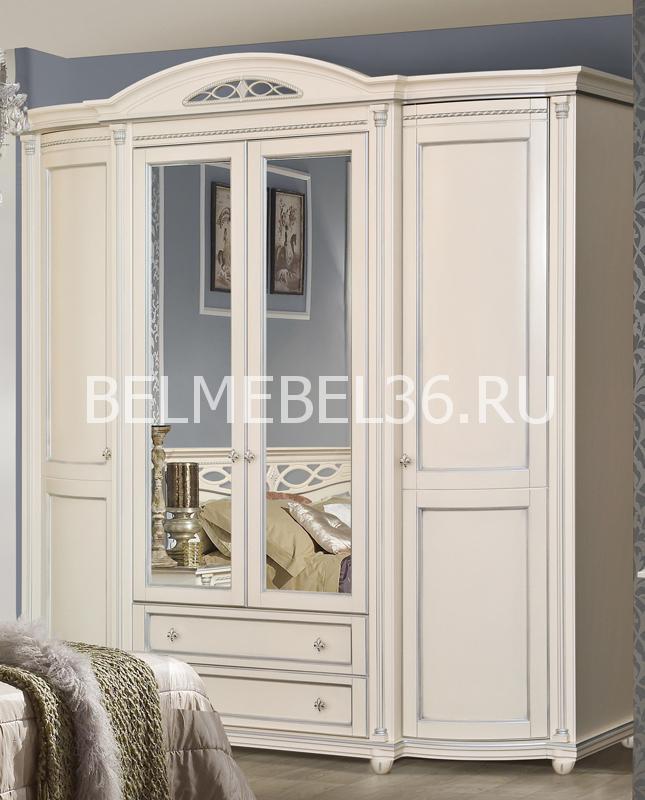 Шкаф для одежды Валенсия 4 П-254.11   Белорусская мебель в Воронеже