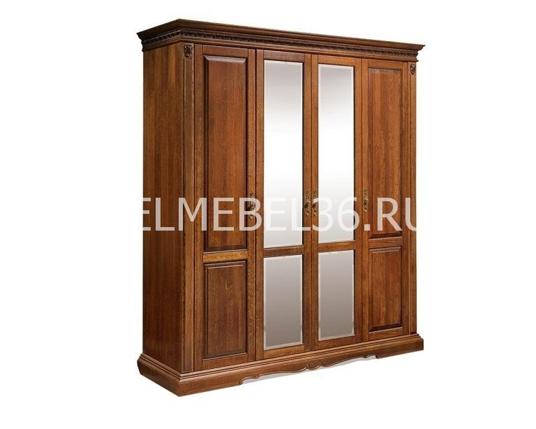 Шкаф 4-х дверный Милана 02 П-294.02   Белорусская мебель в Воронеже
