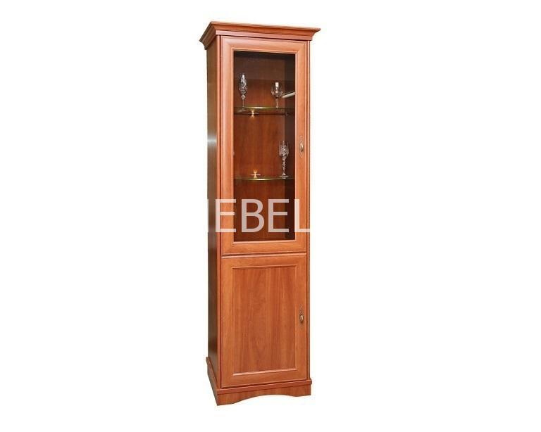 Шкаф с витриной Турин П-036.12 | Белорусская мебель в Воронеже
