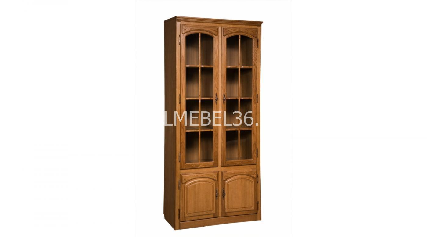 Шкаф с витриной «Элбург» БМ-1747 (полки деревянные)   Белорусская мебель в Воронеже