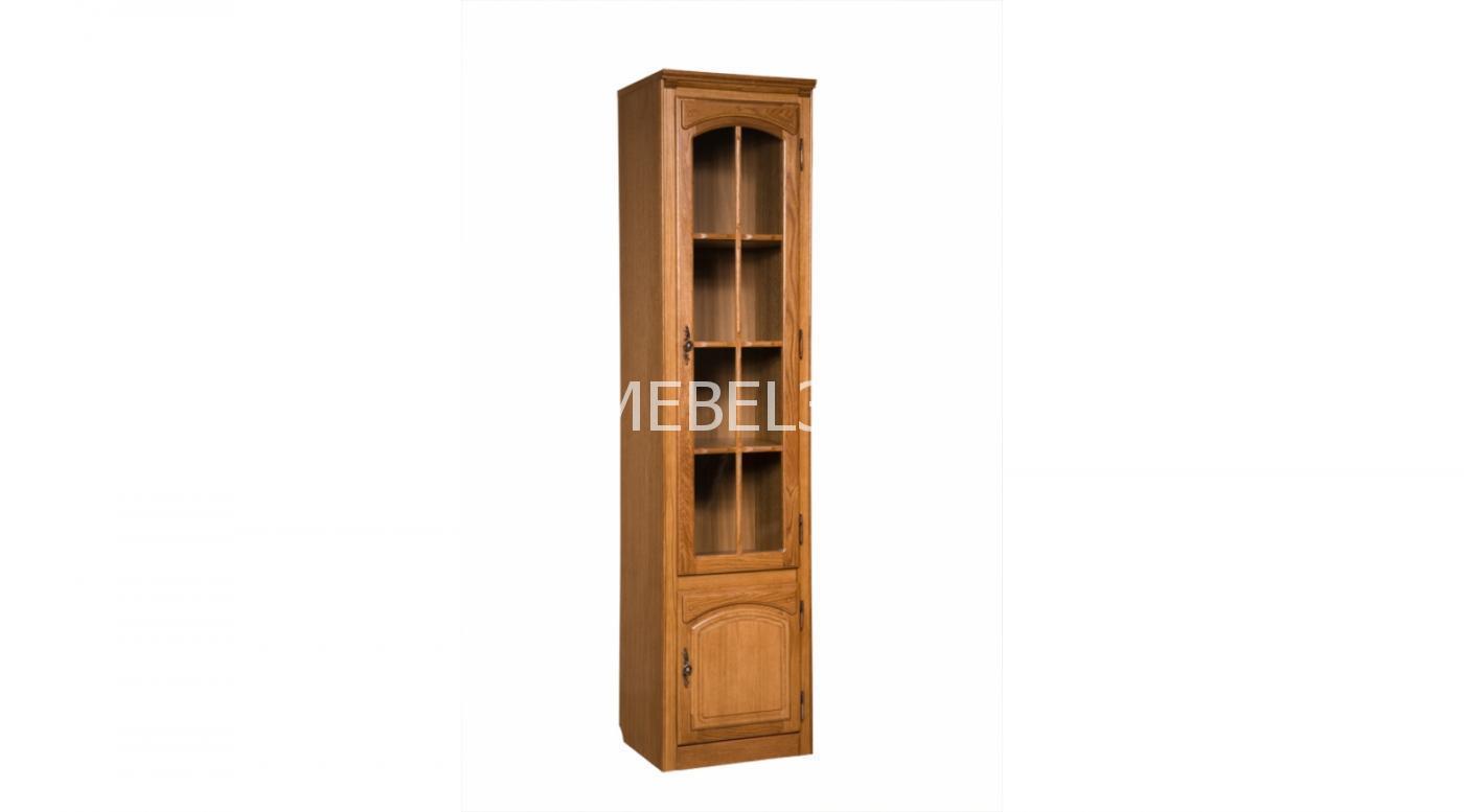 Шкаф с витриной «Элбург» БМ-1757 (полки деревянные)   Белорусская мебель в Воронеже