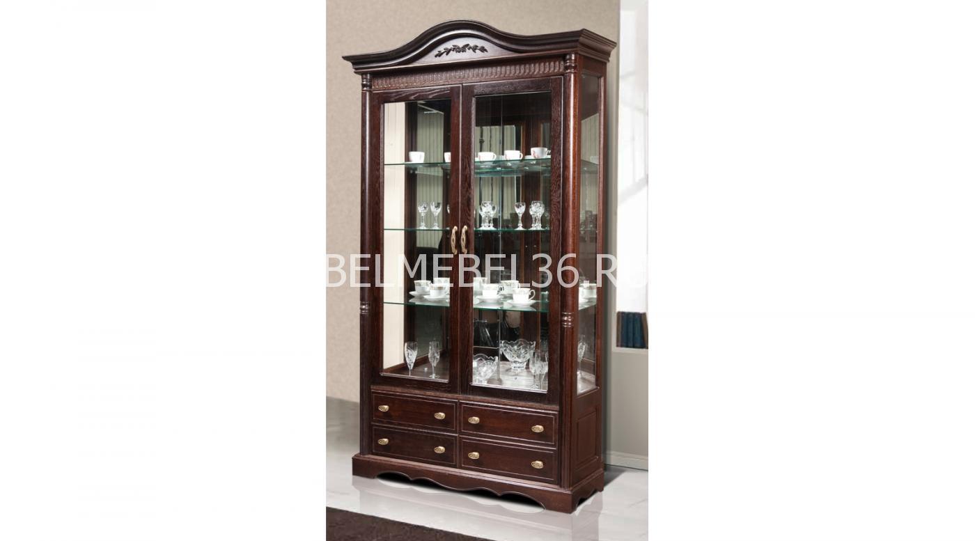 Шкаф-витрина «Паола» БМ-2114   Белорусская мебель в Воронеже