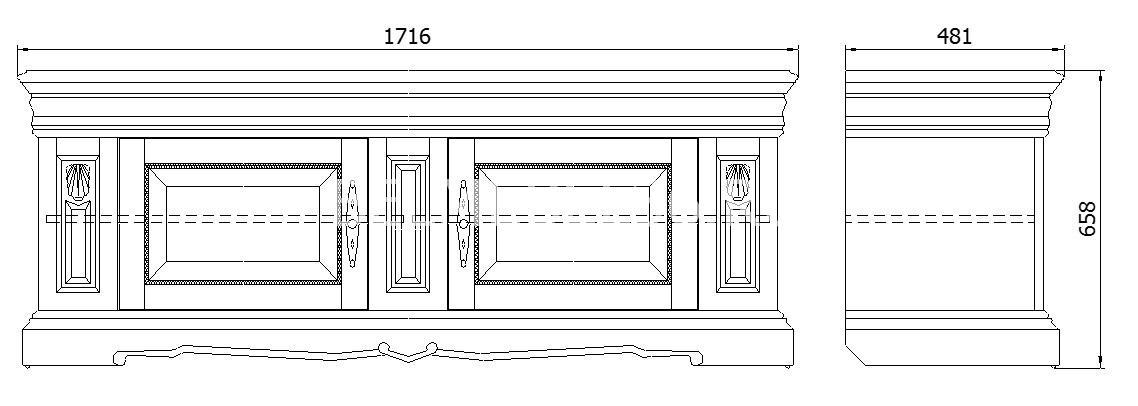 Тумба Милана ТВ3 П-265.15   Белорусская мебель в Воронеже