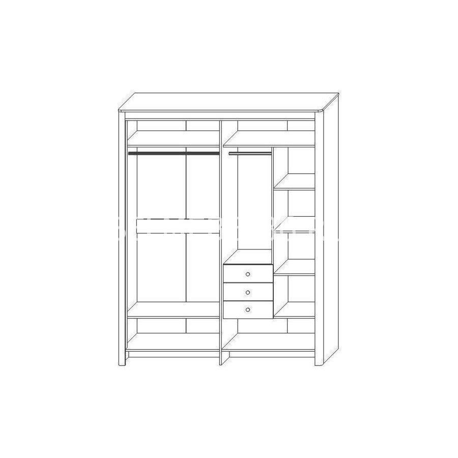 шкаф для одежды «Венеция»   Белорусская мебель в Воронеже